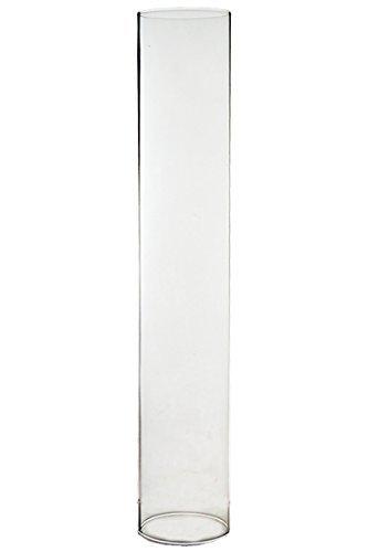 CYS® Hurricane Kerzenhalter, Glas Kamin für Kerze, offene Enden. h-14, Open d-2.5,