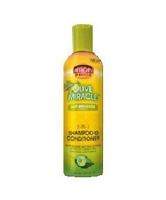 African Pride Olive Miracle 2 IN 1 FORMULA SHAMPOO & CONDITIONER . Code : AFP013 from AFRICAN PRIDE