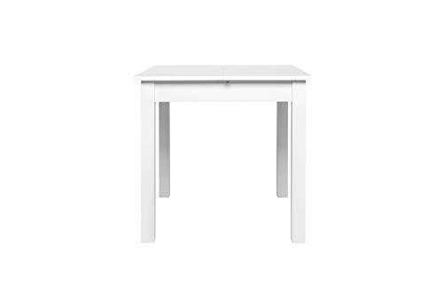 Avanti trendstore - colima - tavolo da pranzo, allungabile per 40 cm, in legno laminato, disponibile in 2 diversi colori ed in 4 diverse misure (80-120x76,5x80 cm, bianco)