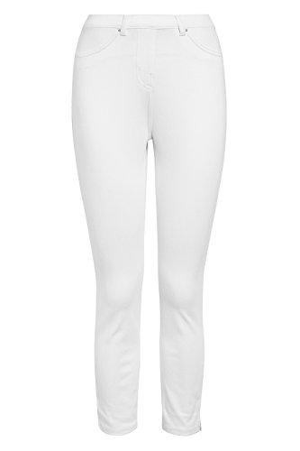 next Damen Jersey Leggings aus Denim mit Cropped Fit Weiß EU 48 (UK 20) -