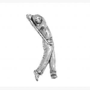 Pewter Pin Badge Sport Male Golfer