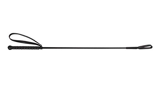 Gerte Reitgerte Springgerte QHP 65cm mit Klatsche (schwarz)