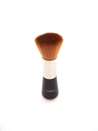 Cebra Ethical Soins de la peau Dessus Plat Brosse de Maquillage – Poils Taklon – 100% végétalien – pour le visage Fond de teint et Poudres Brosse à picots – Silicone
