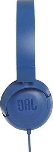 JBL T450 Extra Bass On-Ear Headphones with Mic (Blue) Image 2