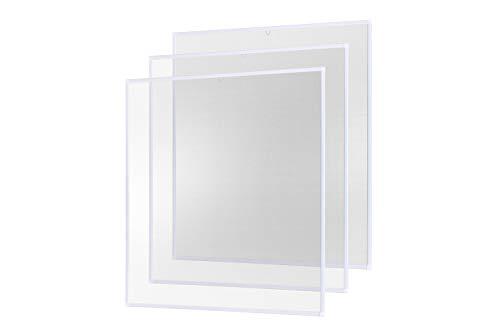 Insektenschutz Fenster Fliegengitter Alurahmen Basic weiß, 120 x 140 cm 3er Set