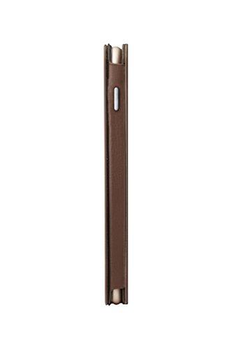 Ozaki OC558BK 0.3 Folio - stylische, dünne Klapp-Tasche aus widerstandsfähigem Kunstleder für das Apple iPhone 6 / 6S  - schwarz braun