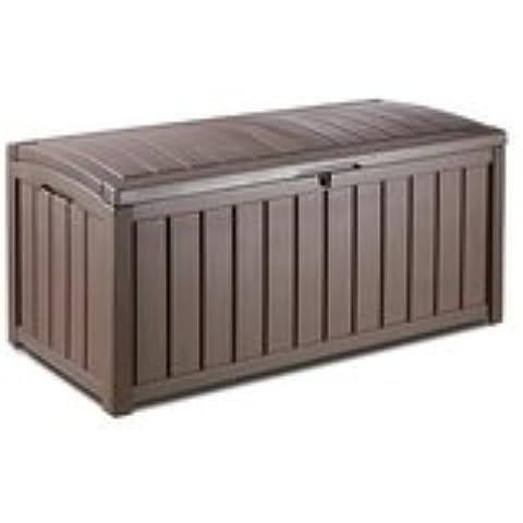 forestfox_trading Keter - Baúl para guardar objetos de jardín (imitación a madera) Capacidad de 390