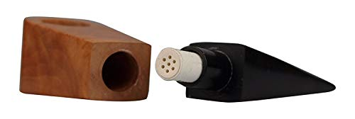 actiTube Holzpfeife - Tune In Pfeife aus Bruyèreholz inkl. Aktivkohlefilter