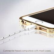 Lightning Kabel - 2m, Weiß, geflochten - Sehr schnelles iPhone 7 Ladekabel - verstärktes USB Datenkabel mit Knickschutz - Für Apple iPhone 7 6 5, iPad, iPod - SWISS-QA Geldrückgabe