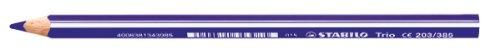 Stabilo trio maxi matita colorata colore blu viola - confezione da 12