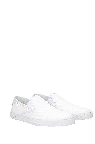XXM0XY0O800CJTB001 Tod's Pantoufle Homme Cuir Blanc Blanc