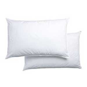 Polycotton Hollowfibre Non-Allergenic Pillows, 2 Pack