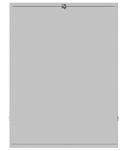 ts-ideen Hängeschreibtisch Weiß Schreibtisch zum Aufklappen mit Regalfächern Wandklapptisch
