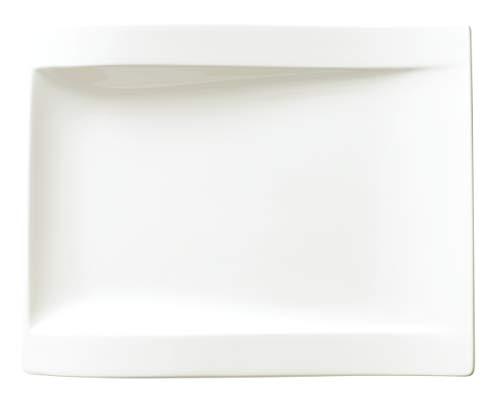 Villeroy & Boch NewWave Assiette petit-déjeuner rectangulaire, 26 x 20 cm, Porcelaine Premium, Blanc