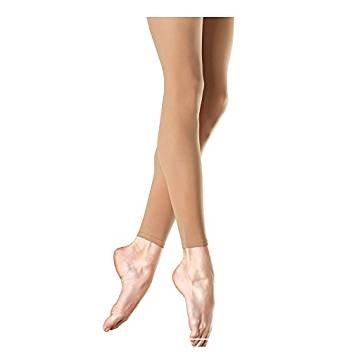 Mytoptrendz® Girls Children'sGirls Children's Footless Dance Tights Opaque Black-Tan With Spandex (7-9yrs- Height -128cm - 4'2