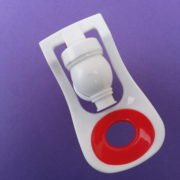 1 Pcs RO Crystal Water Dispenser Tap-Plastic Red Handle for Water Filters-Red for Hot Water Indication + Teflon Tape.