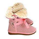 Zeagoo bottes de neige fausse fourrure chaussures boots chaude sangles de cheville pour femme hiver suede 37- 41 Café