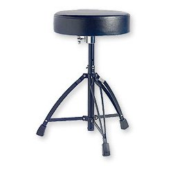 Stagg DT-32BK Double Braced Drum Throne, Black