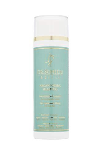 Dr. Schedu Berlin Argan Jojoba Shampoo 200 ml, mit Aloe Vera Gel und Panthenol, für trockenes,gefärbtes und strapaziertes Haar, silikonfrei, tierversuchsfrei - Natürliche Jojoba-shampoo