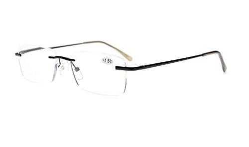 2b54fa676f39b Eyekepper Lunettes de vue   lunettes de lecture percee style sans monture  pour homme femme +