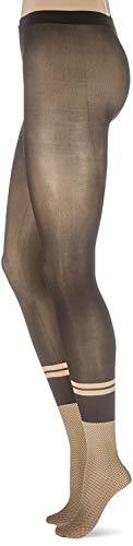 FALKE Damen Strumpfhosen Tie Break, , 1 Stück, Schwarz (Black/Walnut 3503), Größe: S-M - 2