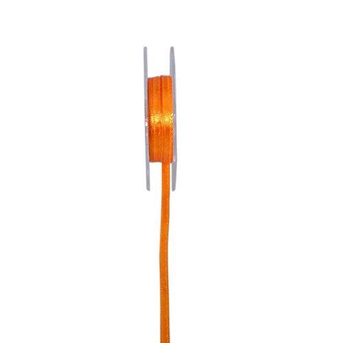 Satinband - Double Face - Schmal - Orange - Schleifenband - Geschenkband - Dekoband - Satin - ca. 3 mm Breite - 10 m Länge - VE = 8 Rollen à 10 m - 34003-3-10-28 -