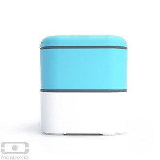Monbento Original himmelblau / weiß - Die Bento-Box + Edelstahlstyling Universalmesser GRATIS -
