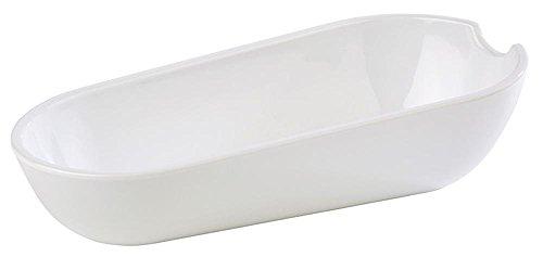 APS Besteck-Ablage -Bowl- aus Melamin, weiß, 22,5 x 11 x 6 cm