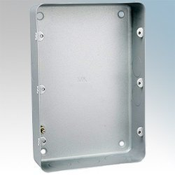MK 895ALM Grid Plus Stove Enamel Aluminium Flush Mounting Box by MK Flush-mounting Box