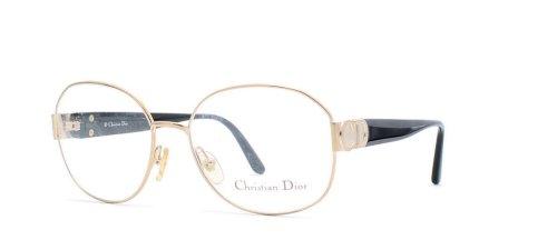 Christian Dior Damen Brillengestell Schwarz Black Gold (Dior Eyeglasses Christian Black)