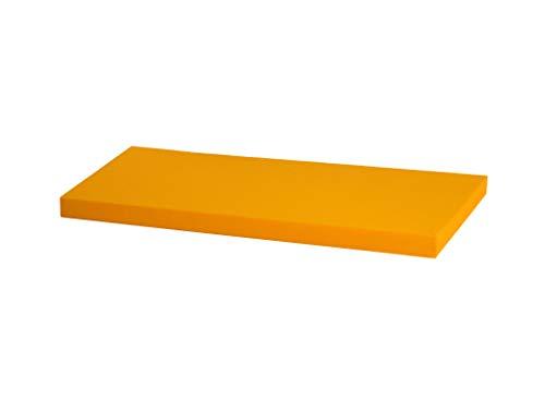 IKEA Kallax Regal Sitzauflage 76 x 39 x 4 cm Sitzpolster Sitzbank-Auflage Sitzkissen/Auflage für Sideboard als Sitzbank/unempfindlicher Bezug/Farbe GELB
