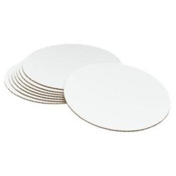 10bandejas para tartas redondas y blancas de PackIt, 250mm