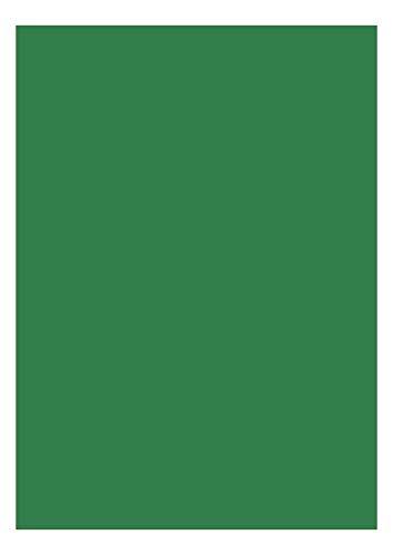 das-label Selbstklebende Vinylfolie dunkelgrün | Indoor matt | DIN A4 | zum Basteln Scrapbook | Vinylfolie zum Einlegen in Plotter | Sticker | Aufkleber | Markierungspunkte