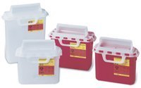 BD 5.4 Quart Red Horizontal Entry Sharps Container by The Becton-Dickinson Incorporated - Red Sharps Container