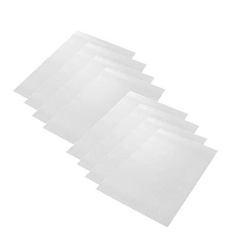 8er Kühlschrank Pad Antibakterielle Kühlschrankmatten Multifunction DIY Tischset Schublade Matte Anti-Fouling Anti-Frost Wasserdicht und Zuschneidbar Kühlschrank Matten, 45 × 29 cm (Transparent)