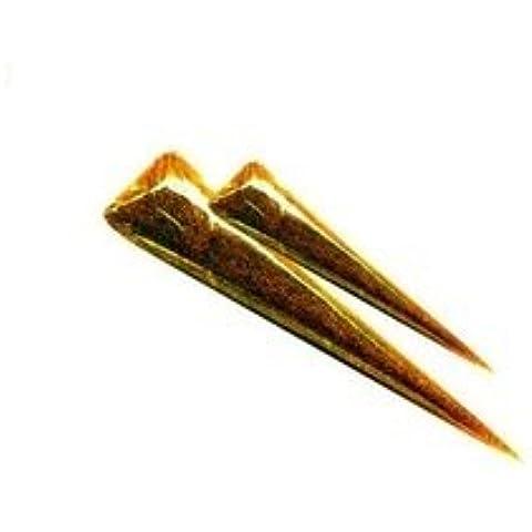 GLC - Coni con hennè gel glitterato oro per tatuaggi, (1 cono) - Fare Body Glitter