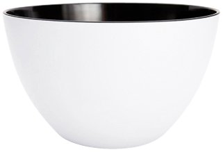 Zak Designs 0535-5150 Saladier Duo Blanc/Noir 22 cm
