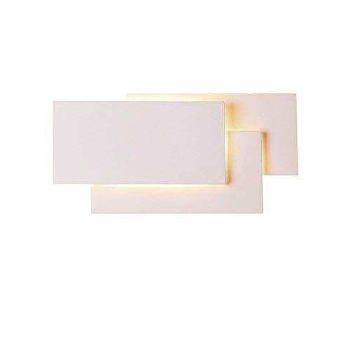 Azanaz applique da parete led in alluminio lampada da parete elegante di stile moderno e semplice lampadario da parete per uso interno per scale, corridoio, pareti, soggiorno,luce calda 12w (bianco)