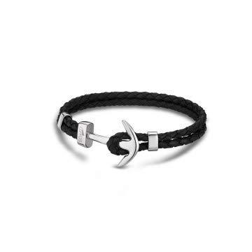 Lotus - LS1832-2/1 : Bracelet Homme Cuir et Acier - Ancre noir