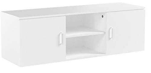 LANGRIA Mobile da Soggiorno di 2-Tier con il Design Classico e Sofistito Bianco