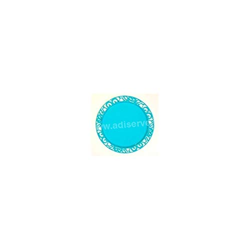 Adiserve sous-Assiette Ronde Turquoise 30 cm par 4