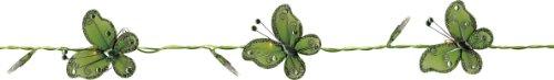Best Season LED-Lichterkette Butterfly-Battery, 8-teilig 8 grüne Schmetterlinge, circa 1,2 m , 16 warm weiß LED batteriebetrieben 726-12 (Grüne Weihnachten Net Lichter)