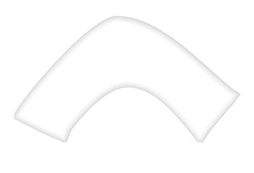 rayyan Linen Bettwäschegarnitur Satin Luxus 100% ägyptische Baumwolle Perkal 400TC, Weiß V Form Kopfkissenbezug für Rücken und Nacken Unterstützung, V-förmige Orthopädische Schwangerschaft Still Füttern Kissenbezüge nur
