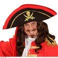 WIDMANN wdm01110?Disfraz para adultos Tricorno pirata negro con banda, talla única