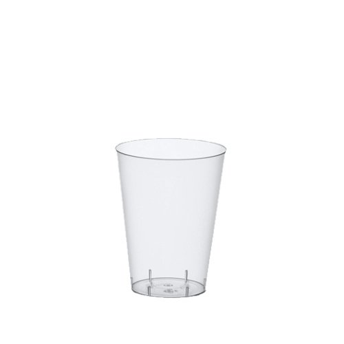 240 Trinkbecher, PS 0,1 l Ø 5,5 cm · 7,5 cm glasklar Plastik mit Füllstrich