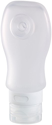 Semptec Urban Survival Technology Silikon Flasche: Silikon-Reiseflasche mit Saugnapf, 89 ml, lebensmittelecht (Reise Shampoo Behälter)