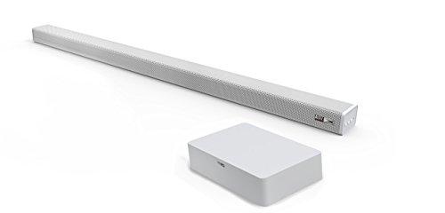 Altec Lansing Snow-al-snb301W-Soundbar Bluetooth mit Lautsprecher-Gitter Metallic und Fernbedienung, Leistung 120W mit eine Stromversorgung von AC 220-240V-50/60Hz und 30Watt Verbrauch, Regler Volume- und Kabel-Kontrolle, AUX-Eingang und MP33,5mm, kompatibel mit PC, Tablets und Smartphones/weiß. (Altec Pc-lautsprecher)