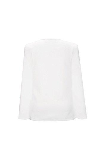 Les Femmes Les Solides Outerweat Rose Brodés Châles Poncho Cape Blazer white