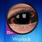 1 Paar Sclera WARLOCK Kontaktlinsen linsen farbige braun schwarz vampir sklera mit Box dämon halloween kostüme scleral (Sclera Linsen Kostüm)