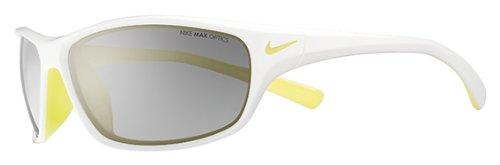 Nike Rabid–Der brüllende Tod Sonnenbrille, unisex, White/Electric Yellow